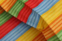 Striped красочное текстуры ткани Стоковое Фото