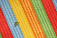 Striped красочное текстуры ткани Стоковые Изображения