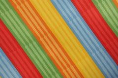 Striped красочное текстуры ткани Стоковое фото RF