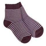 Striped носки изолированные на белой предпосылке Стоковые Фото