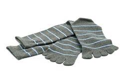 Striped носки пальца ноги Стоковые Изображения RF