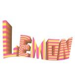 Striped логотип лимона предпосылки знака белый Стоковые Изображения