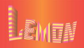 Striped логотип предпосылки лимона надписи красный Стоковое Изображение