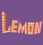 Striped логотип предпосылки лимона надписи фиолетовый Стоковые Фото