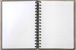 Striped открытое пробела памятки белой книги Стоковые Фотографии RF