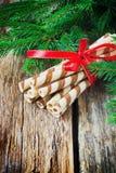 Striped печенья рождества Стоковое Изображение RF