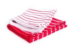 2 striped изолированные полотенца кухни Стоковые Фотографии RF