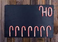 Striped праздником состав тросточки конфеты Стоковые Фотографии RF