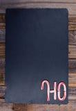 Striped праздником текст тросточки конфеты HO Стоковые Изображения