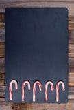 5 striped праздником тросточек конфеты Стоковое фото RF