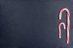 2 striped праздником тросточки конфеты Стоковая Фотография RF