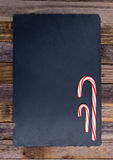 2 striped праздником тросточки конфеты Стоковое Изображение RF