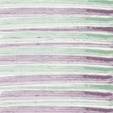 Striped предпосылка в ультрамодной мяте и фиолетовых цветах Горизонтальные ходы щетки Стоковые Изображения