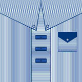 Striped предпосылка платья человека Голубая карточка папы рубашки, иллюстрация иллюстрация штока