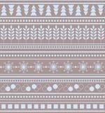 Striped предпосылка рождества картины зимы геометрического орнамента безшовная иллюстрация вектора