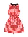 Striped платье изолированное на белизне Стоковые Фото