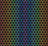 Striped радугой картина мозаики треугольника Безшовное backgro вектора иллюстрация вектора