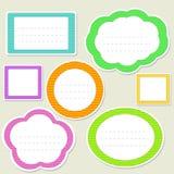 striped речь бумаги пузырей установленная Стоковые Изображения RF