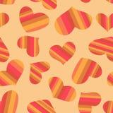 striped сердца делают по образцу безшовное бесплатная иллюстрация