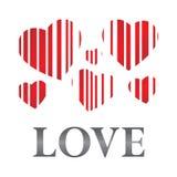 striped сердца Стоковые Изображения