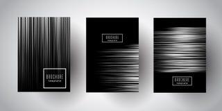 Striped серебром дизайны брошюры Стоковая Фотография RF