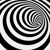 Striped спиралью абстрактная предпосылка тоннеля Стоковое Фото