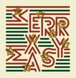 Striped с Рождеством Христовым Стоковая Фотография RF