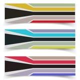 Striped текстурированные тканью знамена вектора Стоковое Изображение