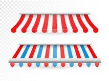 Striped тенты для магазина и рынка стоковая фотография rf