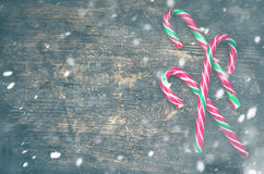 Striped тросточки конфеты рождества Стоковые Изображения