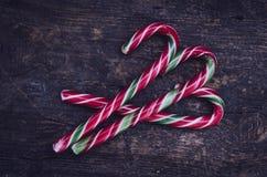 Striped тросточки конфеты рождества Стоковое Фото