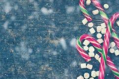Striped тросточки конфеты рождества Стоковая Фотография RF
