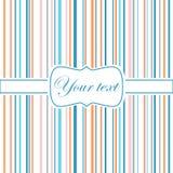 Striped цветастая поздравительная открытка Стоковое Изображение RF