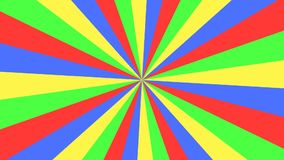 Striped цирком красочный хранитель экрана анимации предпосылки иллюстрация штока