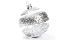 striped ясность рождества шарика Стоковое Изображение