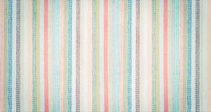 Striped красочной предпосылка текстурированная тканью винтажная Стоковое Изображение RF