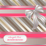 Striped 8. Decorative striped background with ribbon and bow Stock Images