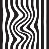 Striped abstract background. black and white zebra print. Vector seamless illustration. eps10 Royalty Free Stock Photos