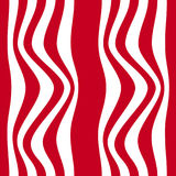 Striped abstract background. red and white zebra print. illustration Stock Images