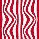 Striped abstract background. red and white zebra print. Vector illustration. eps10 Stock Images