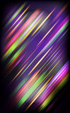 Striped abstract design on dark background. Stock Photography