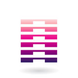 Striped Abstract Icon Stock Image