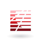 Striped Abstract Icon Royalty Free Stock Photos