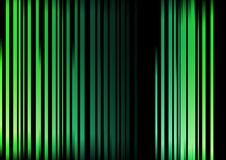 Striped Abstract in shades of green. A striped abstract background in landscape format in two shades of green set on a black background Stock Photos
