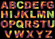 Striped Alphabet Royalty Free Stock Image