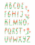 Striped alphabet. Letters from A to Z Stock Photo