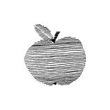 Striped apple Royalty Free Stock Image