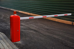Striped automatic barrier Royalty Free Stock Images