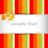 Striped autumn background Stock Images