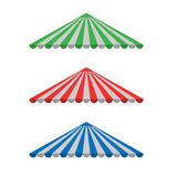Striped Awning canopy Royalty Free Stock Photography